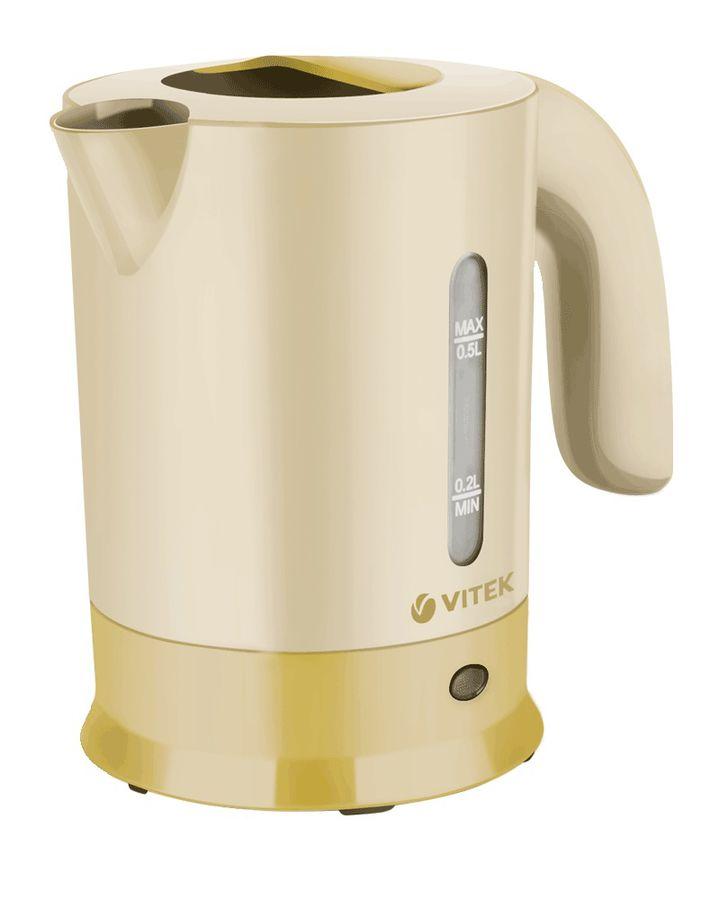 Чайник электрический VITEK VT-7023, 650Вт, желтый