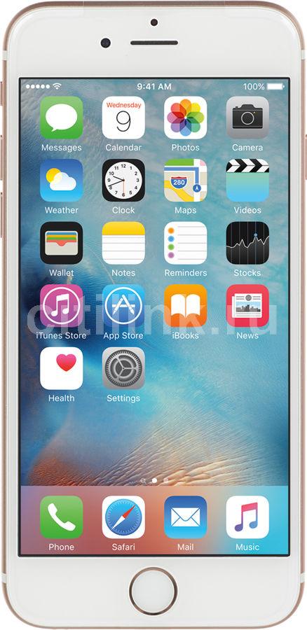 Смартфон APPLE iPhone 6s MKQW2RU/A  128Gb, розовый/золотистый