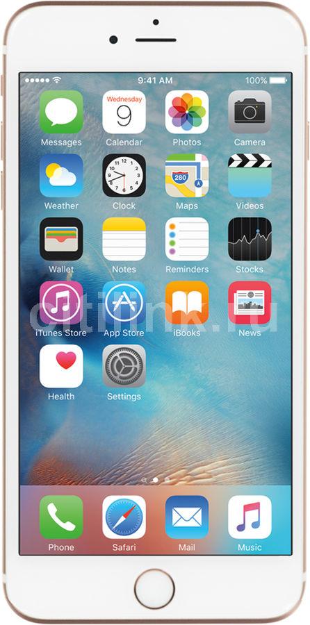 Смартфон APPLE iPhone 6s Plus MKU52RU/A  16Gb, розовый/золотистый