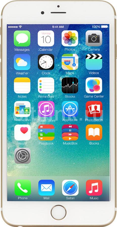 Смартфон APPLE iPhone 6s Plus MKU82RU/A  64Gb, золотистый