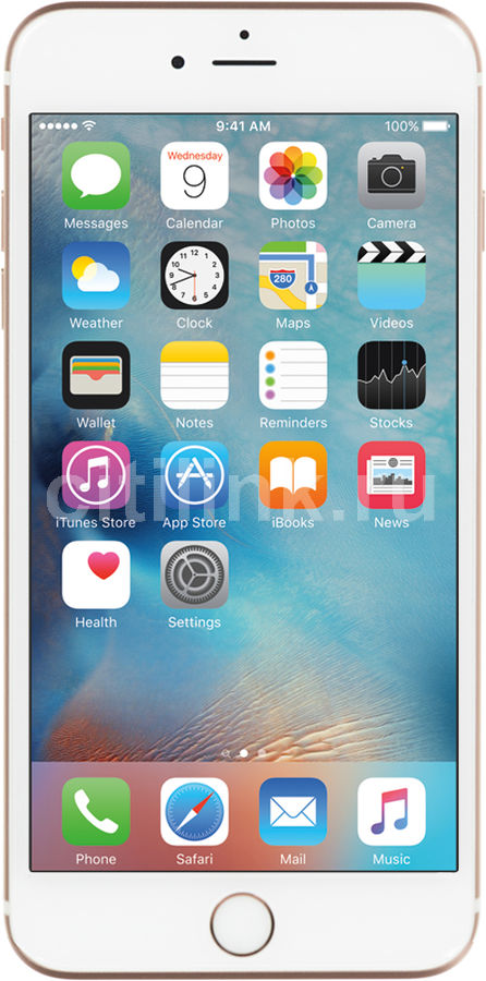Смартфон APPLE iPhone 6s Plus 128Gb, MKUG2RU/A, розовый смартфоны apple смартфон iphone 6s plus mkue2ru a 128gb серебристый