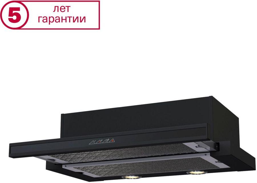 Вытяжка встраиваемая Krona Kamilla 600 черный управление: сенсорное (2 мотора) [16872]