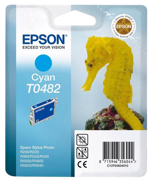 Картридж EPSON T0482, голубой [c13t04824010]