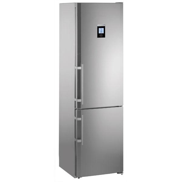 Холодильник LIEBHERR CBNes 3957,  двухкамерный,  нержавеющая сталь