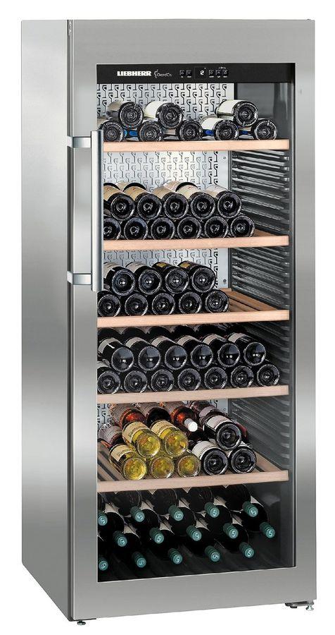 Винный шкаф LIEBHERR WKES 4552,  однокамерный, серебристый