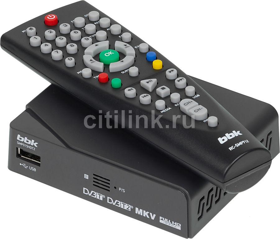 Ресивер DVB-T2 BBK SMP015HDT2,  темно-серый