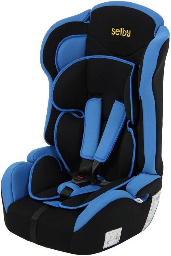 Автокресло детское SELBY LC-2315, 1/2/3, синий/черный [827202]