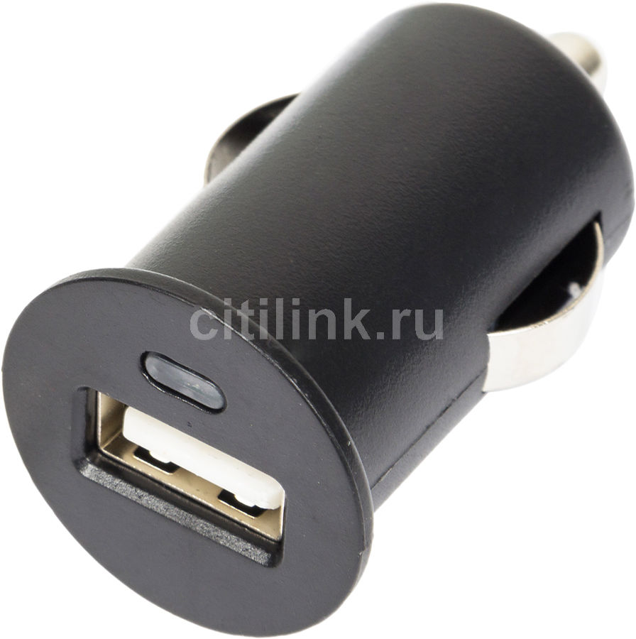 Автомобильное зарядное устройство GINZZU GA-4105UB,  USB,  1A,  черный