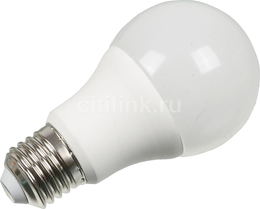 Лампа ЭРА A60-10w-827-E27, 10Вт, 900lm, 30000ч,  2700К, E27,  1 шт. [б0020532]