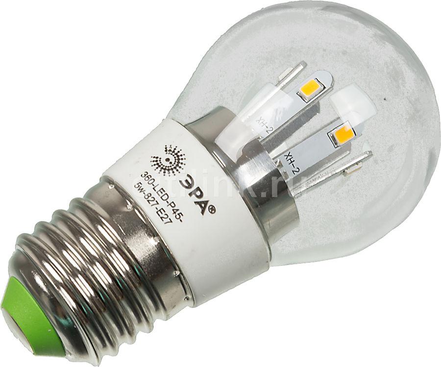 Лампа ЭРА 360-LED P45-5w-827-E27, 5Вт, 420lm, 30000ч,  2700К, E27,  1 шт. [б0008472]