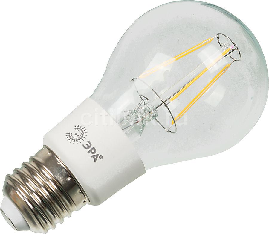 Лампа ЭРА F-LED A60-5w-827-E27, 5Вт, 480lm, 30000ч,  2700К, E27,  1 шт. [б0012535]
