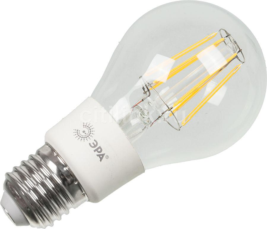 Лампа ЭРА F-LED A60-7w-827-E27, 7Вт, 700lm, 30000ч,  2700К, E27,  1 шт. [б0019012]