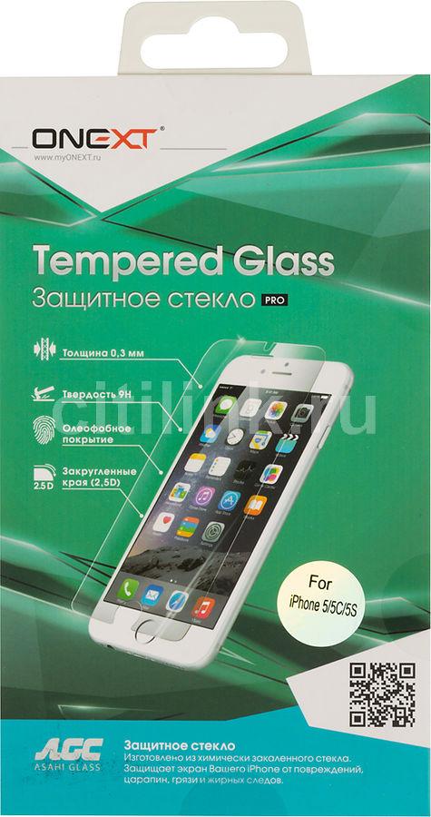 Защитное стекло для экрана ONEXT для Apple iPhone 5/5s/5c/SE,  1 шт [40596/41510]
