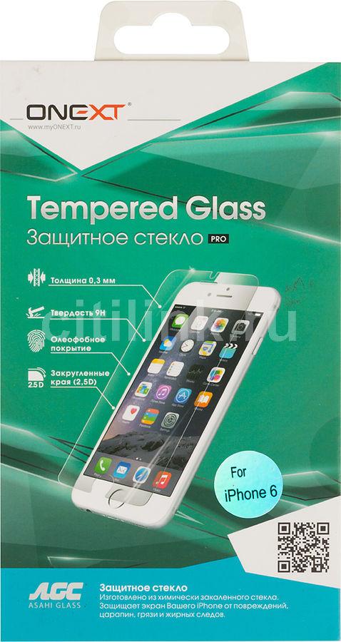 Защитное стекло ONEXT для Apple iPhone 6/6S,  1 шт [40785]