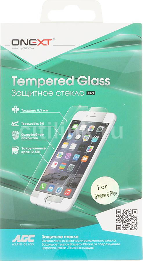 Защитное стекло ONEXT для Apple iPhone 6 Plus,  1 шт [40805]