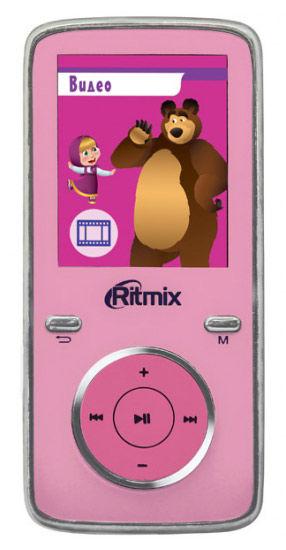 MP3 плеер RITMIX RF-4950M flash 4Гб розовый + рисунок [15115090]