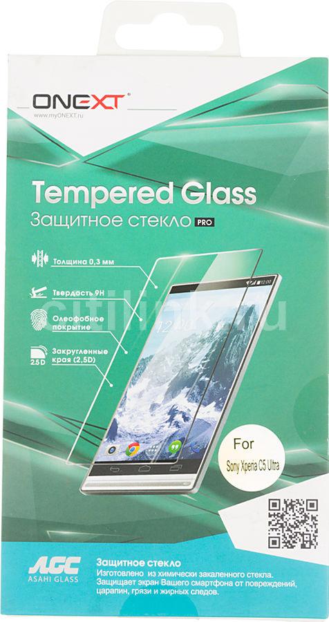 Защитное стекло ONEXT для Sony Xperia C5 Ultra,  1 шт [40971]