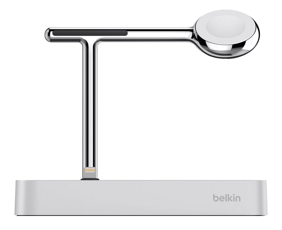 Док-станция BELKIN Charge Dock for Apple Watch + iPhone F8J183, серебристый [f8j183vfslv-apl]