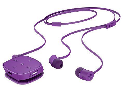 Гарнитура HP H5000, J2X02AA, вкладыши,  фиолетовый, проводные