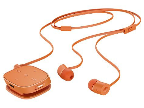 Гарнитура HP H5000, J2X03AA, вкладыши,  оранжевый, проводные