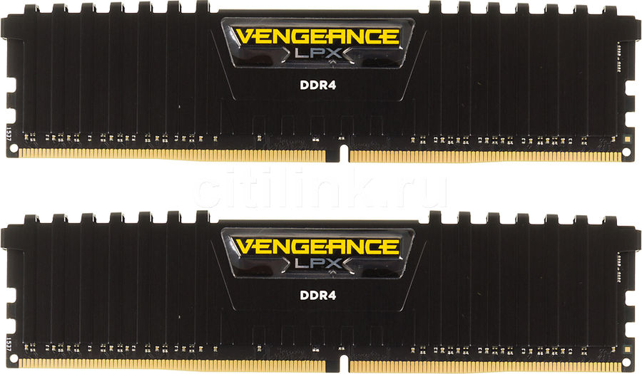 Модуль памяти CORSAIR Vengeance LPX CMK8GX4M2A2400C14 DDR4 -  2x 4Гб 2400, DIMM,  Ret