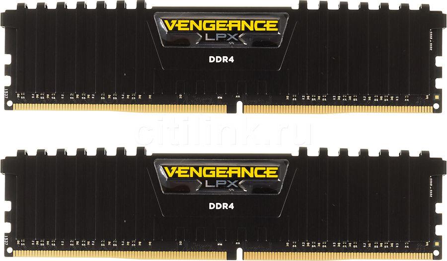 Модуль памяти CORSAIR Vengeance LPX CMK8GX4M2B3200C16 DDR4 -  2x 4Гб 3200, DIMM,  Ret
