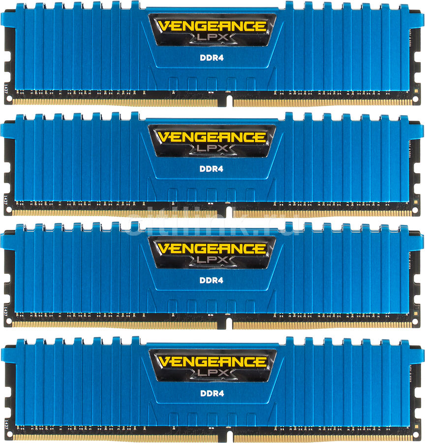 Модуль памяти CORSAIR Vengeance LPX CMK16GX4M4A2133C13B DDR4 -  4x 4Гб 2133, DIMM,  Ret