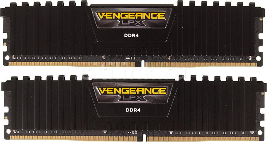 Модуль памяти CORSAIR Vengeance LPX CMK16GX4M2B3200C16 DDR4 -  2x 8Гб 3200, DIMM,  Ret