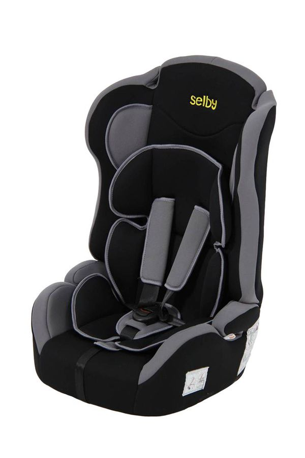Автокресло детское SELBY LC-2315, 1/2/3, черный/серый [827200]