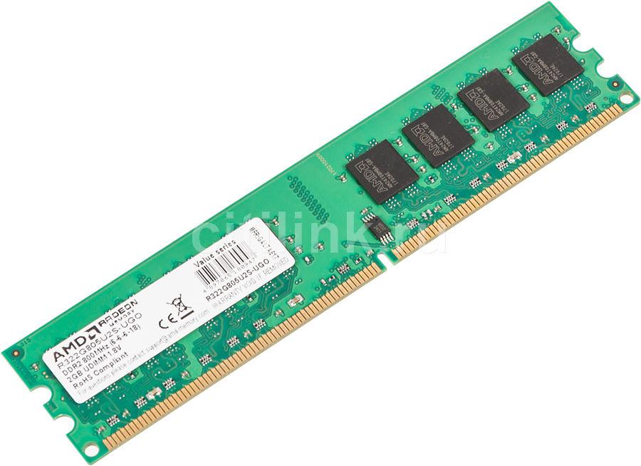 Модуль памяти AMD R322G805U2S-UGO DDR2 -  2Гб 800, DIMM,  OEM
