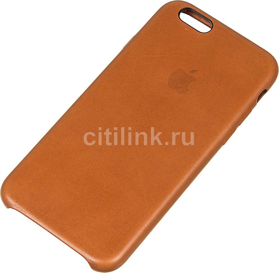 Чехол (клип-кейс) APPLE MKXT2ZM/A, для Apple iPhone 6S, светло-коричневый