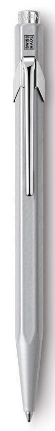 Ручка шариковая Carandache Office CLASSIC (849.005_ MTLGB) корпус:серый M синие чернила подар.кор.