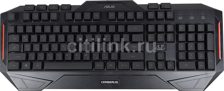 Клавиатура ASUS CERBERUS, USB, черный [90yh00r1-b2ra00] клавиатура asus strix tactic pro cherry mx black black usb 90yh0081 b2ra00