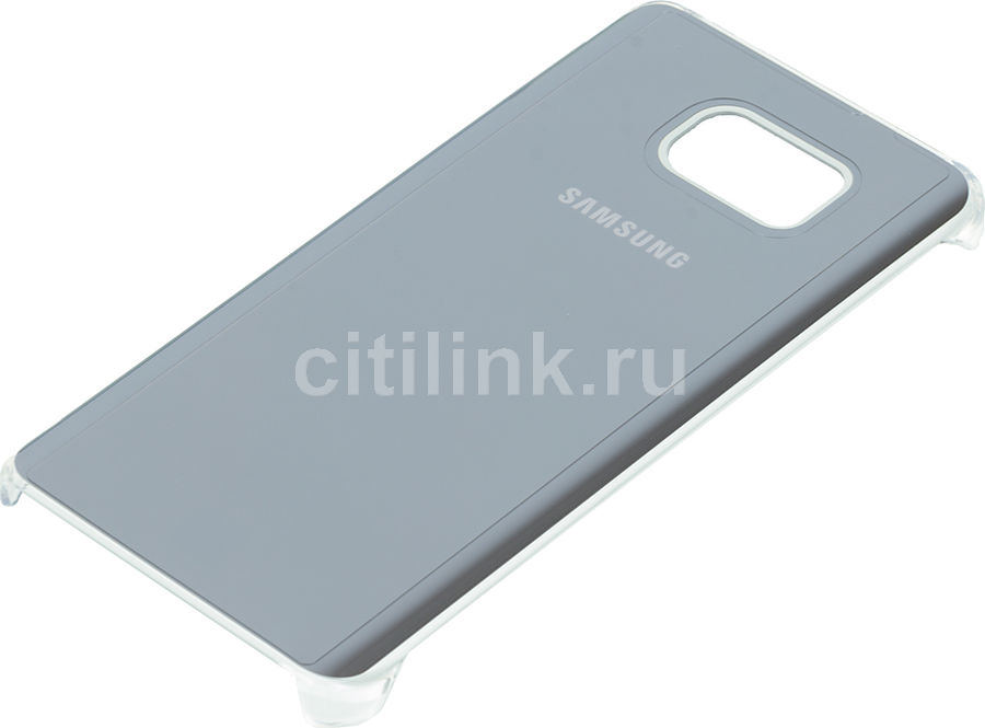 Чехол (клип-кейс) SAMSUNG Glossy Cover, для Samsung Galaxy Note 5, серебристый [ef-qn920msegru]