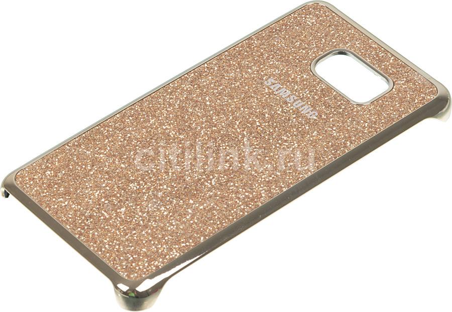 Чехол (клип-кейс) SAMSUNG Glitter Cover, для Samsung Galaxy Note 5, золотистый [ef-xn920cfegru]