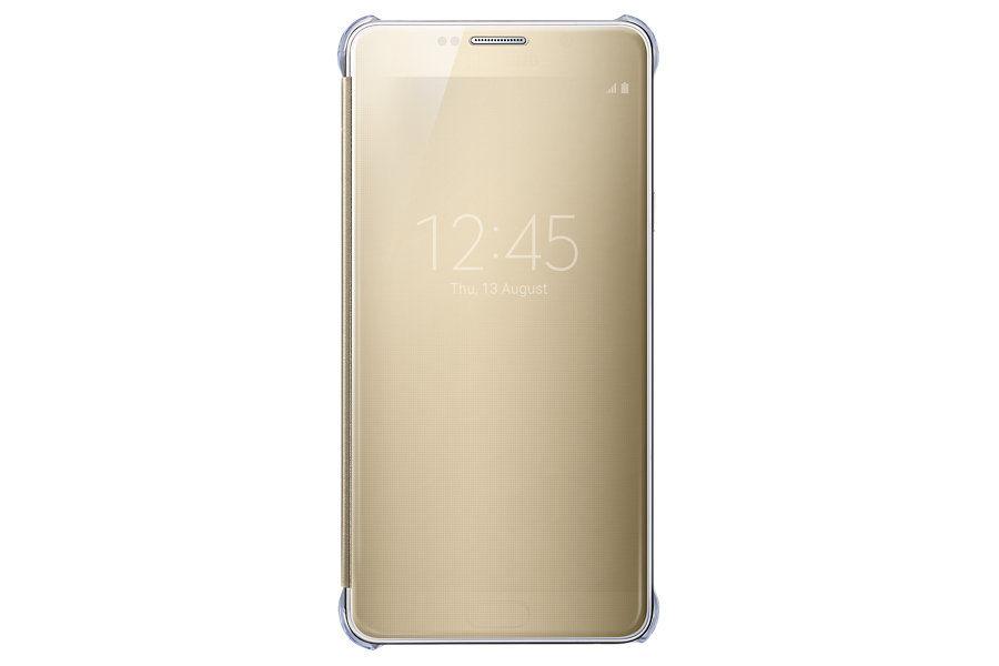 Чехол (флип-кейс) SAMSUNG Clear View Cover, для Samsung Galaxy Note 5, золотистый [ef-zn920cfegru]