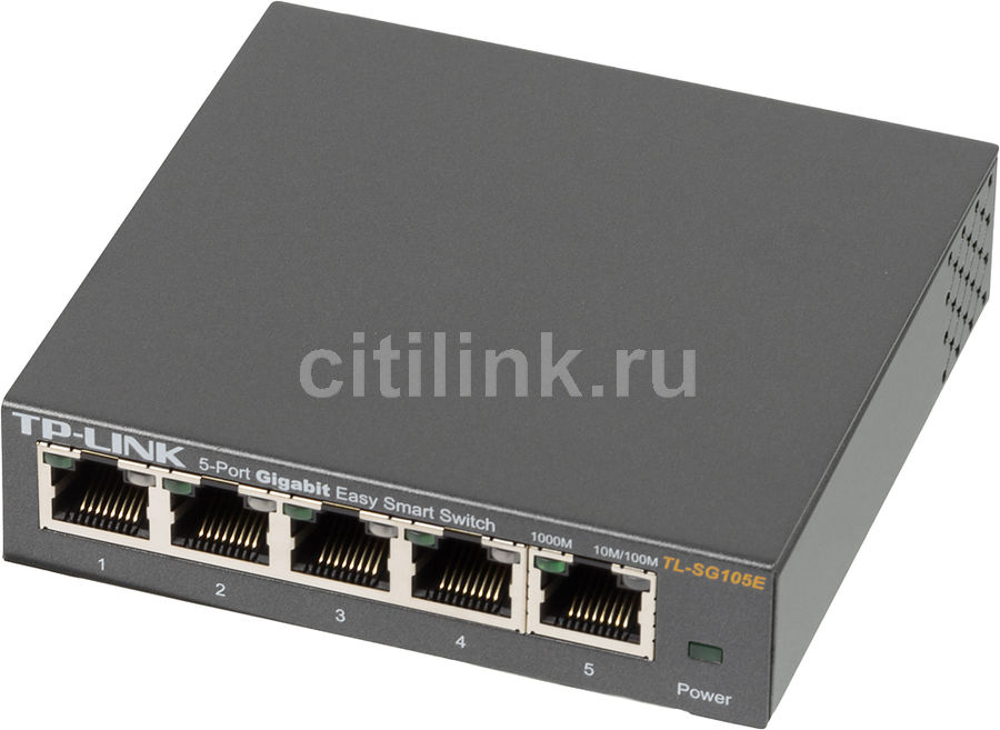 Коммутатор TP-LINK TL-SG105E адаптер power over ethernet tp link tl poe10r