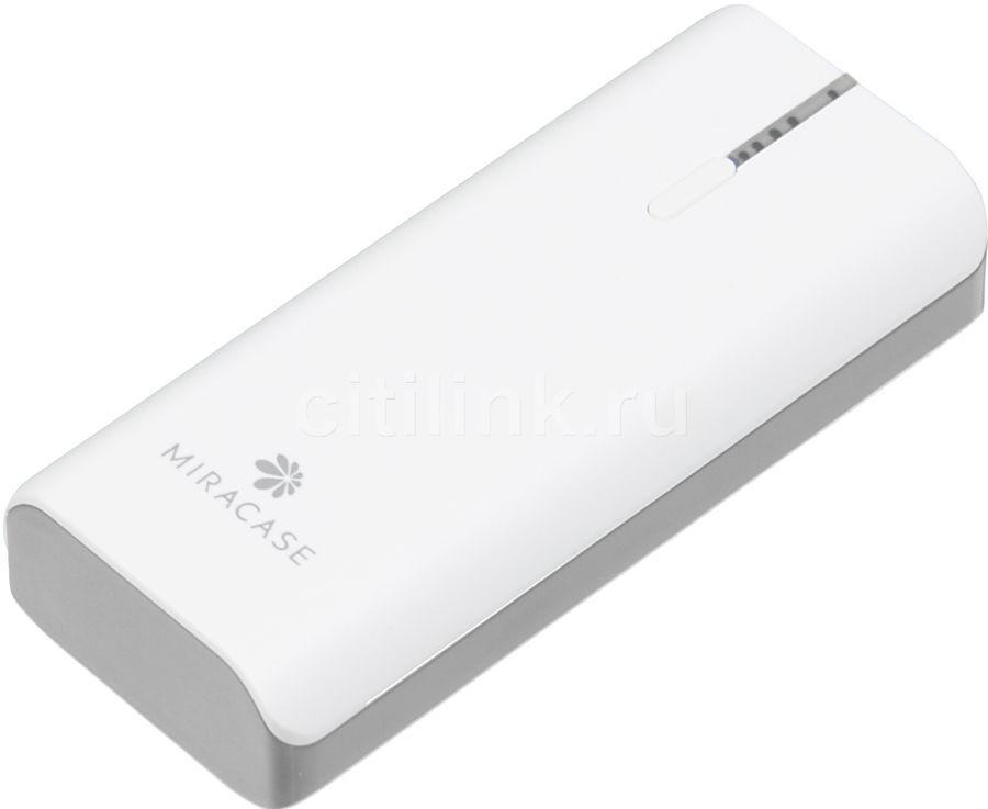 Внешний аккумулятор MIRACASE MACC-826,  5200мAч,  белый/серый