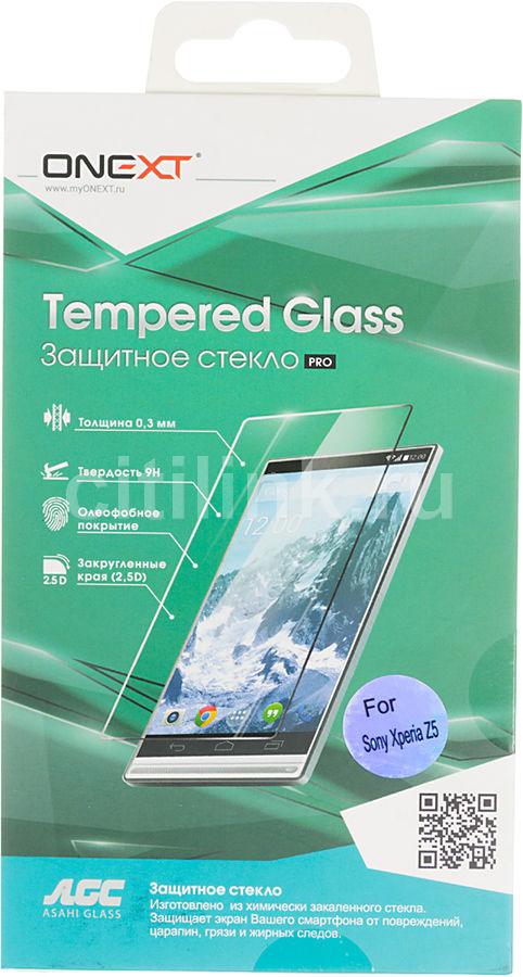 Защитное стекло ONEXT для Sony Xperia Z5,  1 шт [40985]
