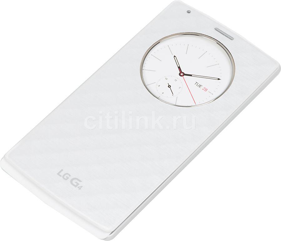 Чехол (флип-кейс) LG Quick Circle, для LG G4, белый [cfr-100c.agrawh]