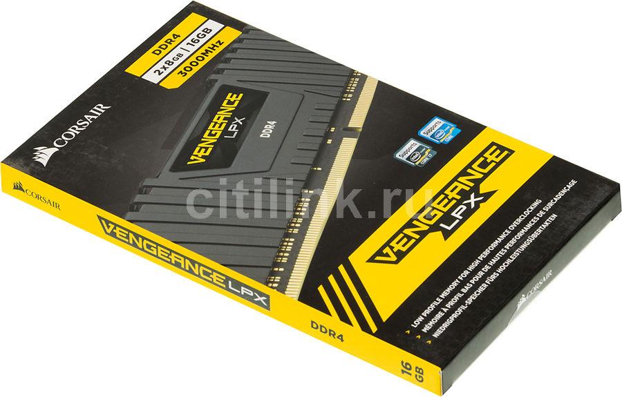 Модуль памяти CORSAIR Vengeance LPX CMK16GX4M2B3000C15 DDR4 - 2x 8Гб