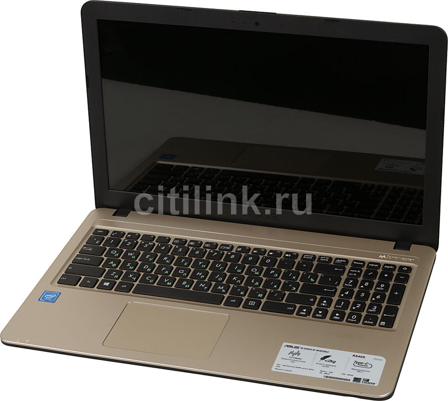 Ноутбук ASUS R540SA-XX036T, 15.6, Intel Celeron N3050, 1.6ГГц, 2Гб, 500Гб, Intel HD Graphics , Windows 10, черный [90nb0b31-m00840]Ноутбуки<br>экран: 15.6;  разрешение экрана: 1366х768; процессор: Intel Celeron N3050; частота: 1.6 ГГц (2.16 ГГц, в режиме Turbo); память: 2048 Мб, DDR3L; HDD: 500 Гб, 5400 об/мин; Intel HD Graphics ; WiFi;  Bluetooth; HDMI; WEB-камера; Windows 10<br>