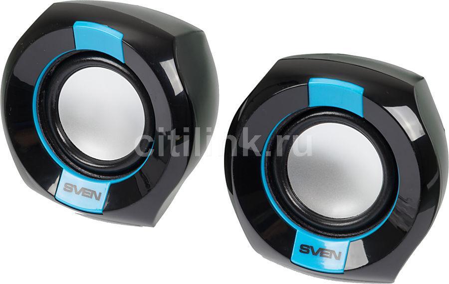 Колонки SVEN 150,  2.0,  черный/ синий