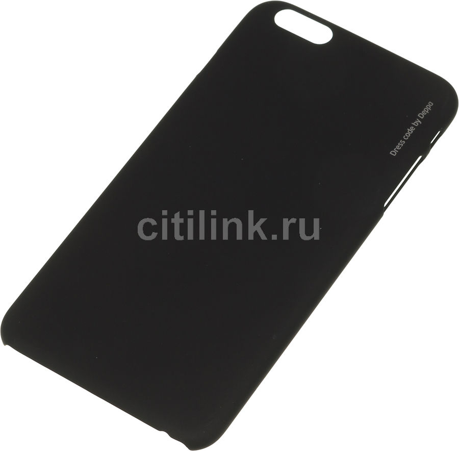 Чехол (клип-кейс) DEPPA Air Case, для Apple iPhone 6 Plus, черный [83124] apple чехол клип кейс apple для apple iphone 7 mmy52zm a черный
