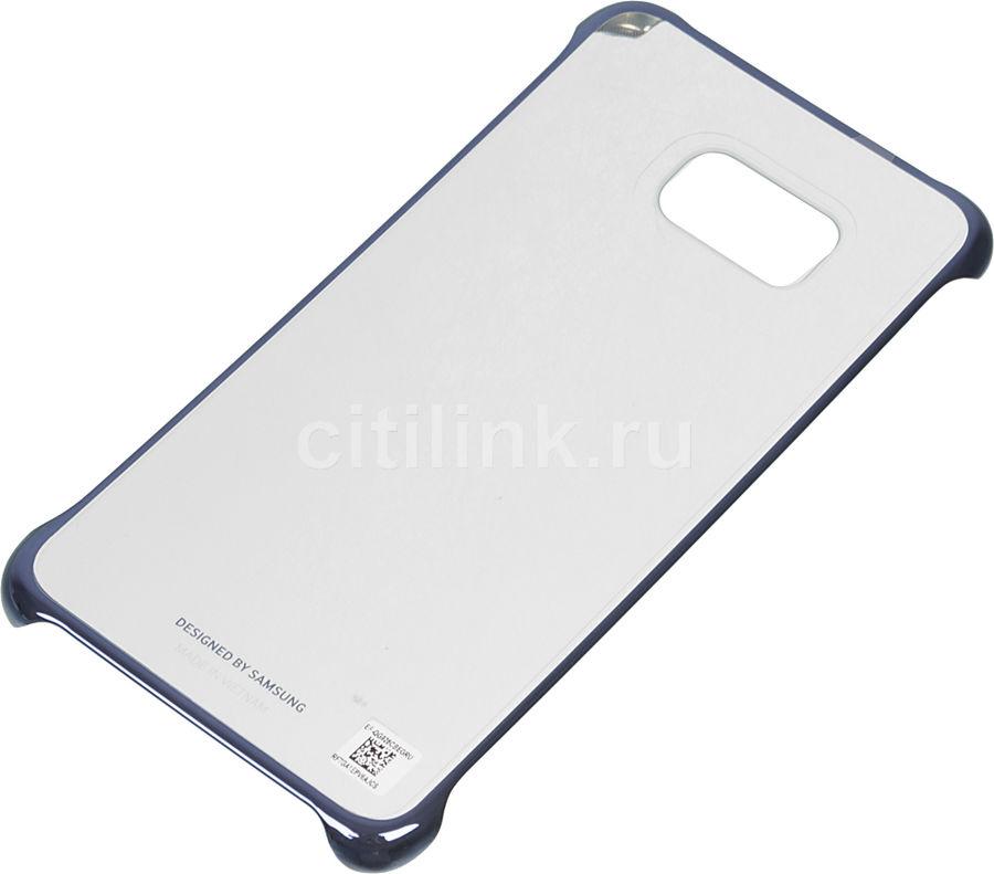 Чехол (клип-кейс) SAMSUNG ClearCover G928, для Samsung Galaxy S6 Edge Plus, темно-синий [ef-qg928cbegru]