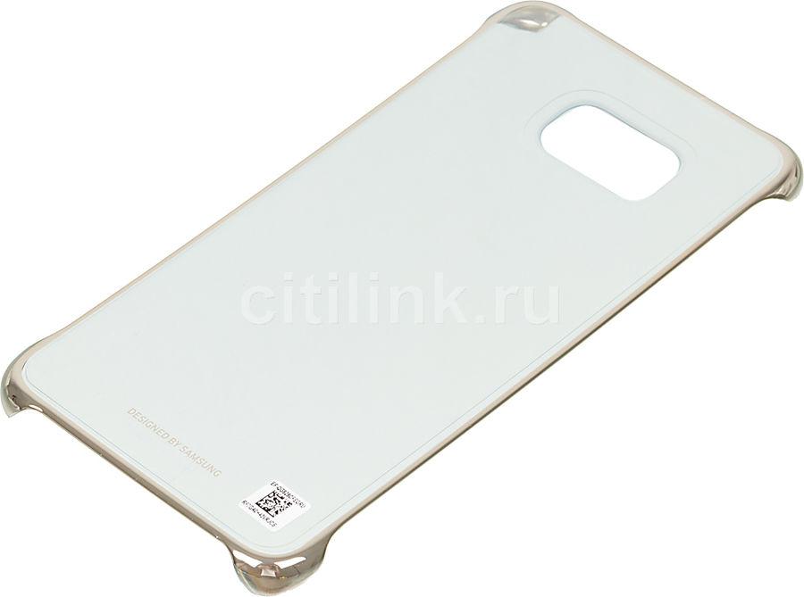 Чехол (клип-кейс) SAMSUNG ClearCover G928, для Samsung Galaxy S6 Edge Plus, золотистый [ef-qg928cfegru]