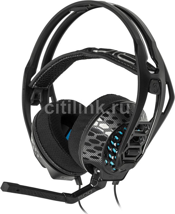 Наушники с микрофоном PLANTRONICS RIG 500E Esport Edition,  мониторы, черный  [203802-05]