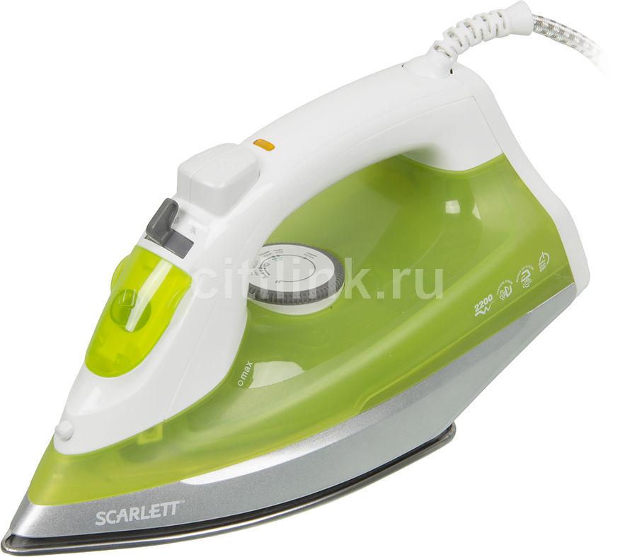 Утюг SCARLETT SC-SI30S04,  2200Вт,  белый/ зеленый [sc - si30s04]