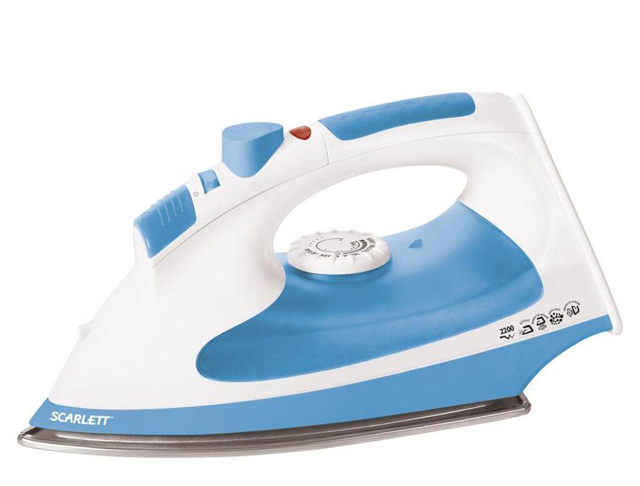 Утюг SCARLETT SC-SI30P02,  2200Вт,  белый/ голубой