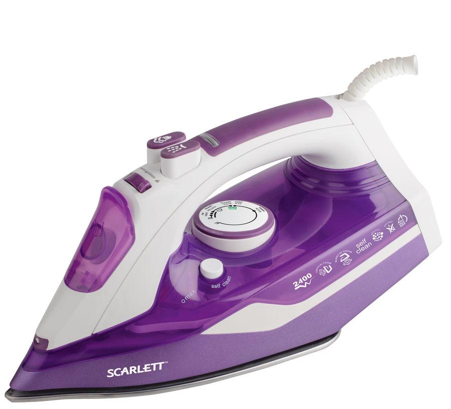 Утюг SCARLETT SC-SI30K14,  2400Вт,  фиолетовый/ белый